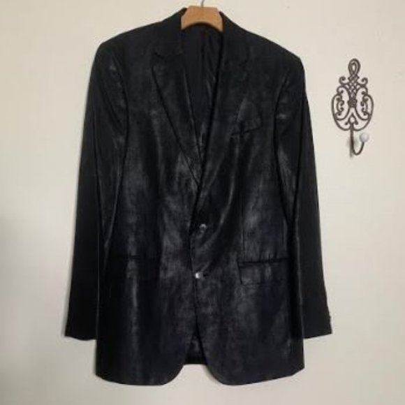 Kenneth Cole Other - NEW Kenneth Cole Black Faux Leather Sport Coat